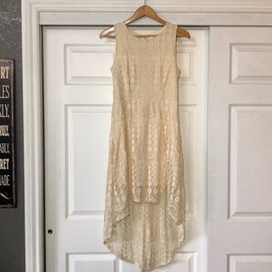 High Low Cream Dress